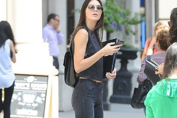 Kendall Jenner in tight jeans