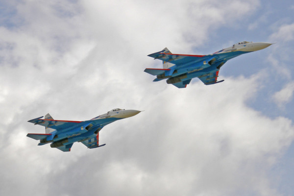 Russian Jet Intercepted the American Plane Over the Black Sea