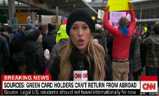 Protesters Gather at JFK Airport