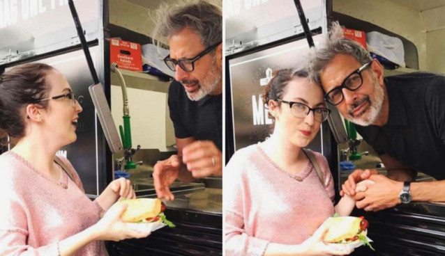 Was Actor Jeff Goldblum Handling out Sandwiches from a Food Truck?