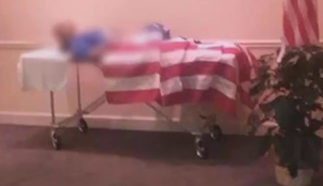 Body of a Veteran was Displayed without a Coffin in Georgia