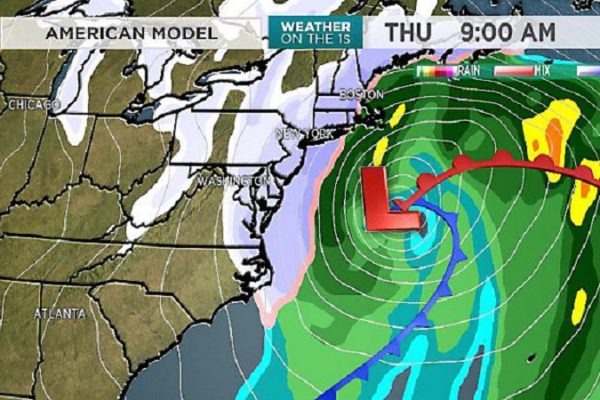 Current Weekend Predicted Colder & Snowstorm in Nor'easter